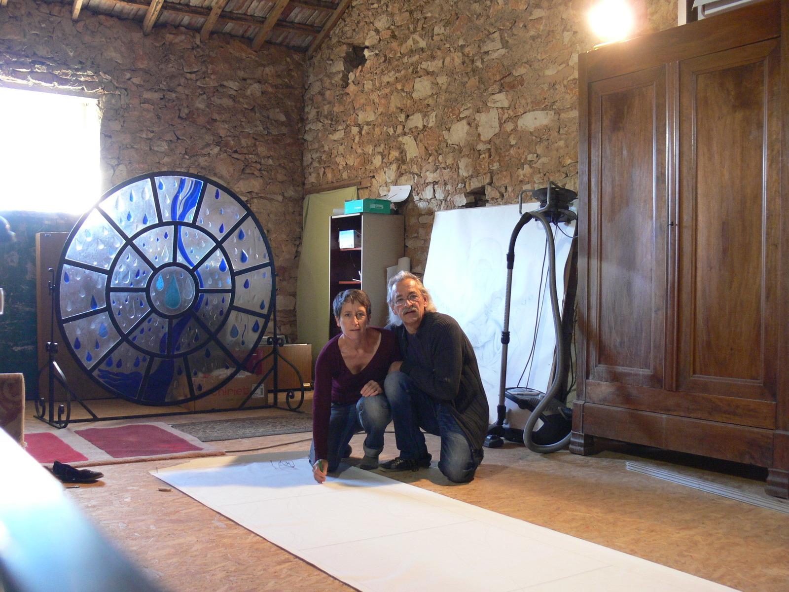 artiste verrier vitrailliste jean yves delille atelier. Black Bedroom Furniture Sets. Home Design Ideas