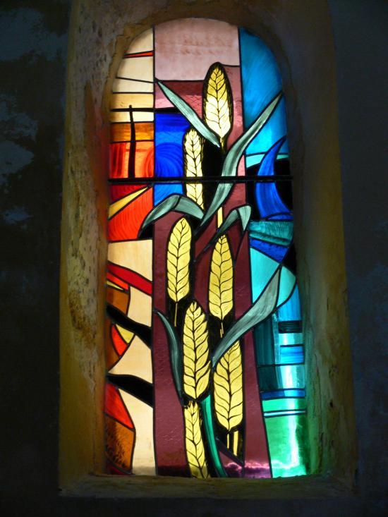 vitraux de flaux,atelier vitrail toucouleur