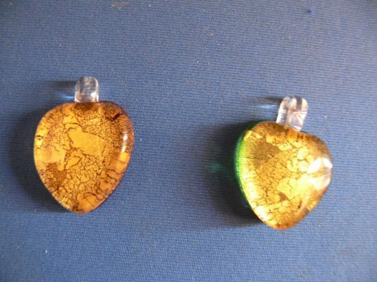 bijoux ,verre fondu et or