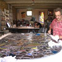 Atelier de vitrail,Toucouleur près d'uzès