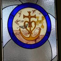 CAMARGUE (peinture vitrail )