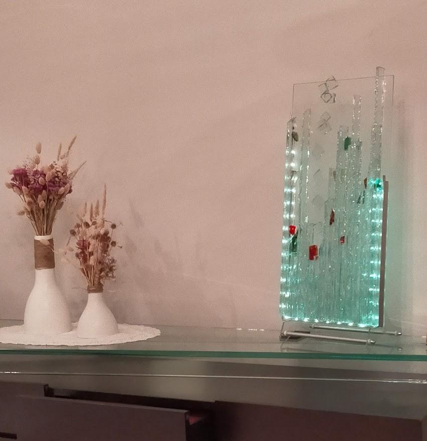 Lampe Atelier vitrail TOUCOULEUR